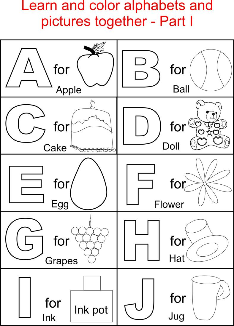 6 Images of Printable Alphabet Pages For Preschoolers