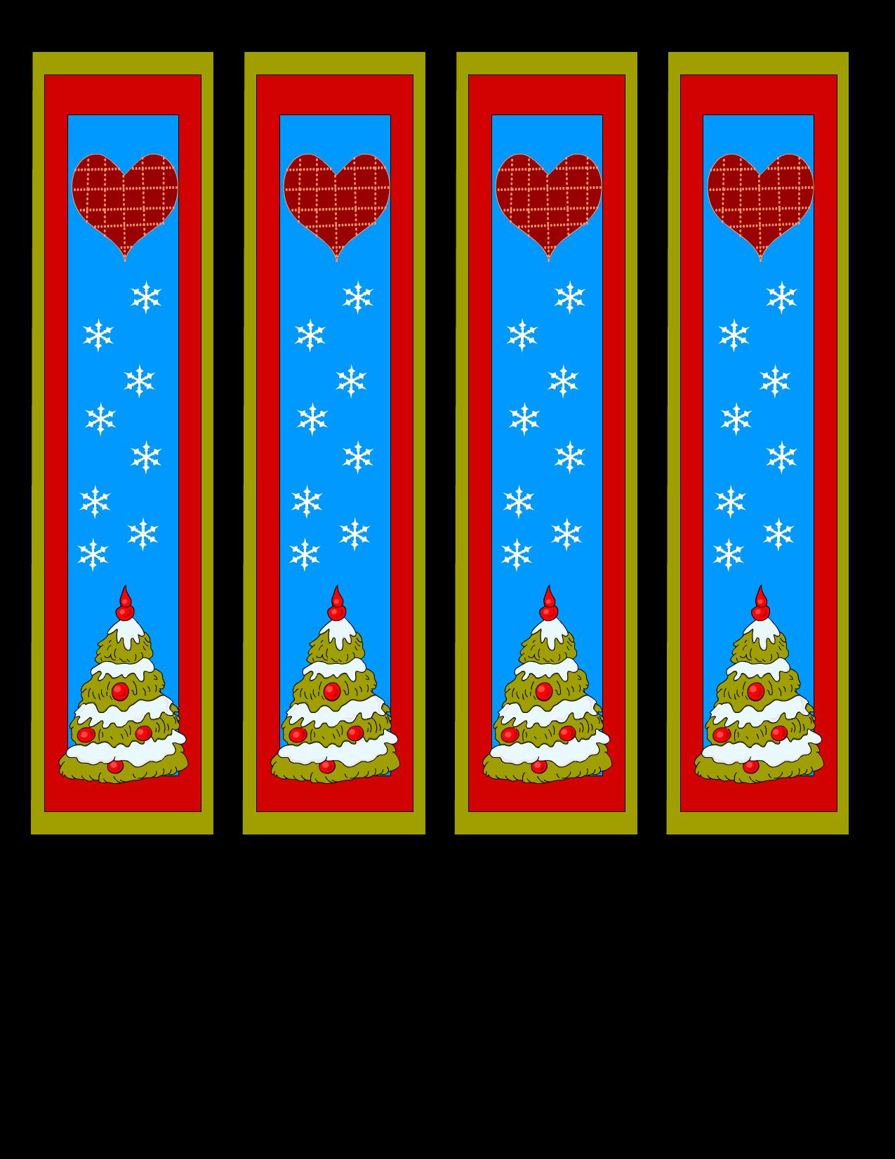 Printable Christmas Bookmarks Print