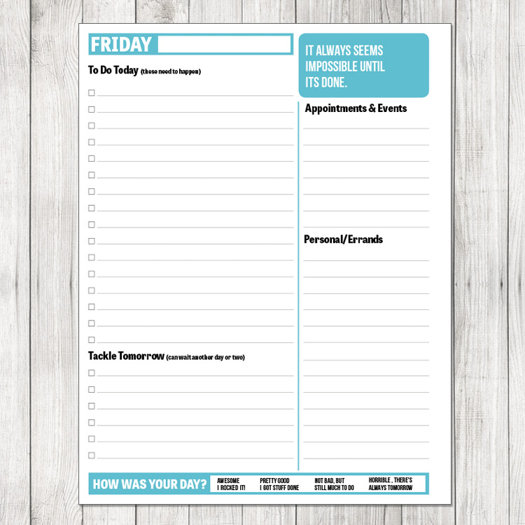 6 Images of 2014 Daily Planner Sheets Printable