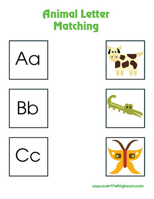 9 Images of Letter-Sound Matching Printables