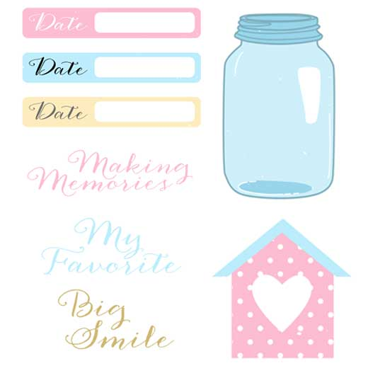 7 Images of Free Printable Scrapbook Embellishments Love