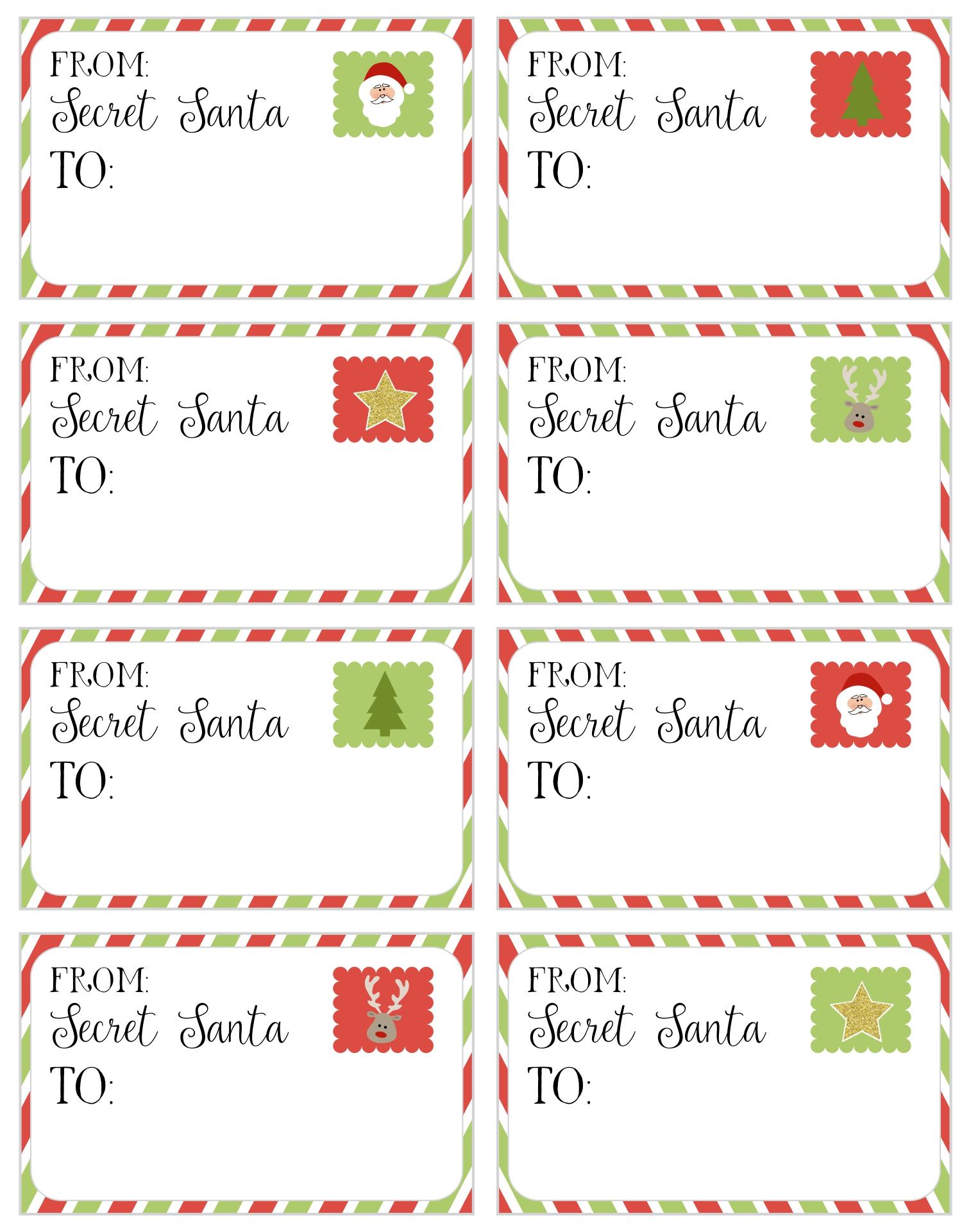 Printable Secret Santa Christmas Card