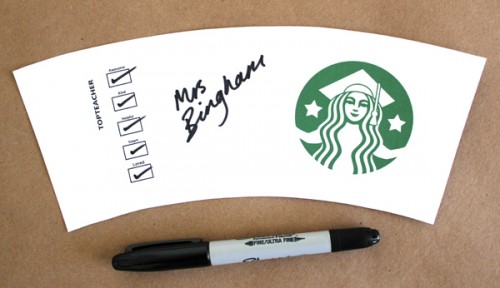 Printable Starbucks Coffee Cups