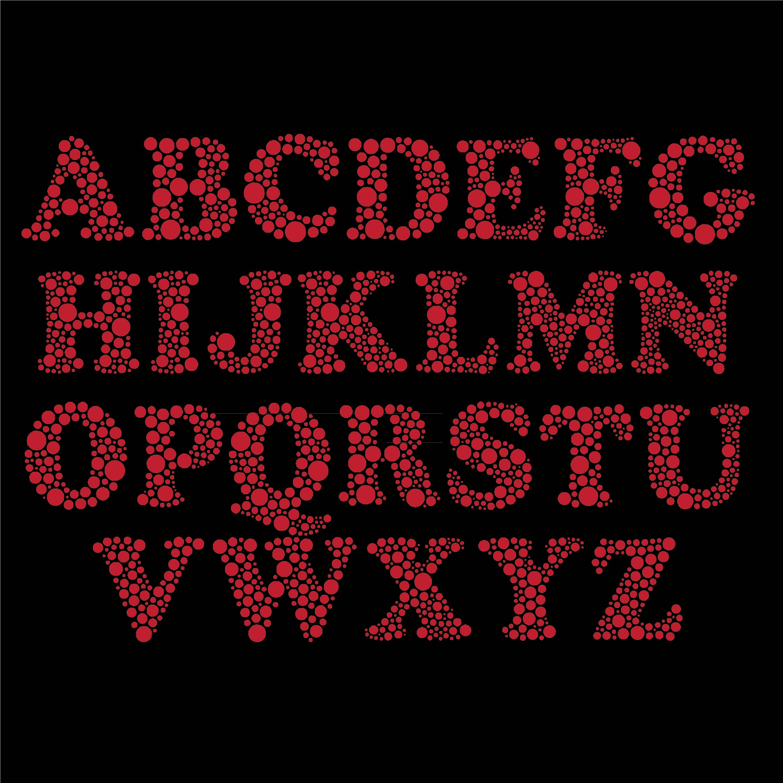 Red Polka Dot Alphabet Letters Printable