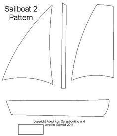 6 Images of Free Printables Nautical Striped Sailboat