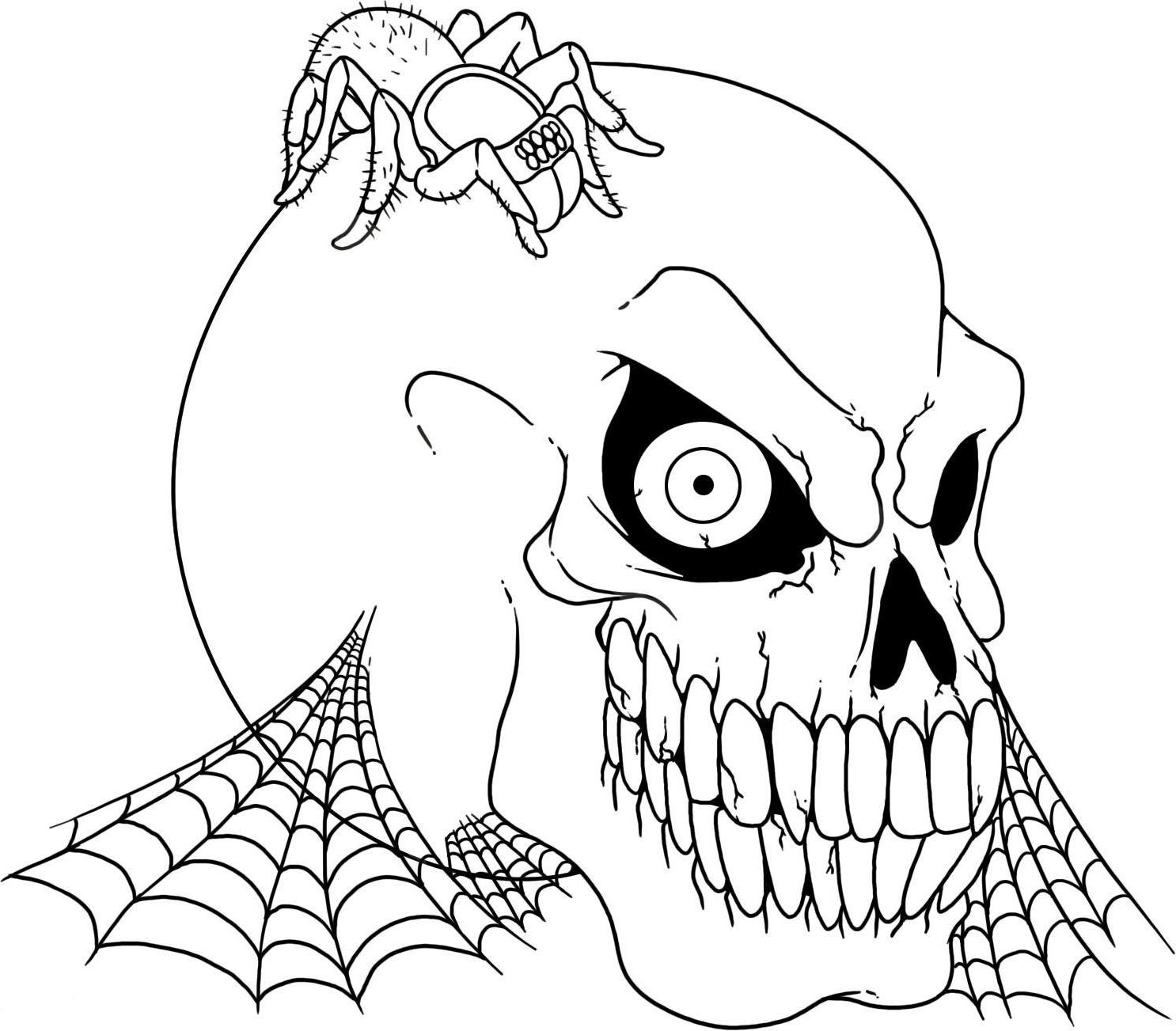 5 Images of Scary Coloring Pages Printable
