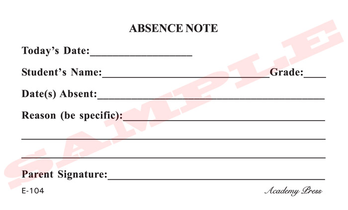 school absence note template free - 8 best images of printable for school absence excuses