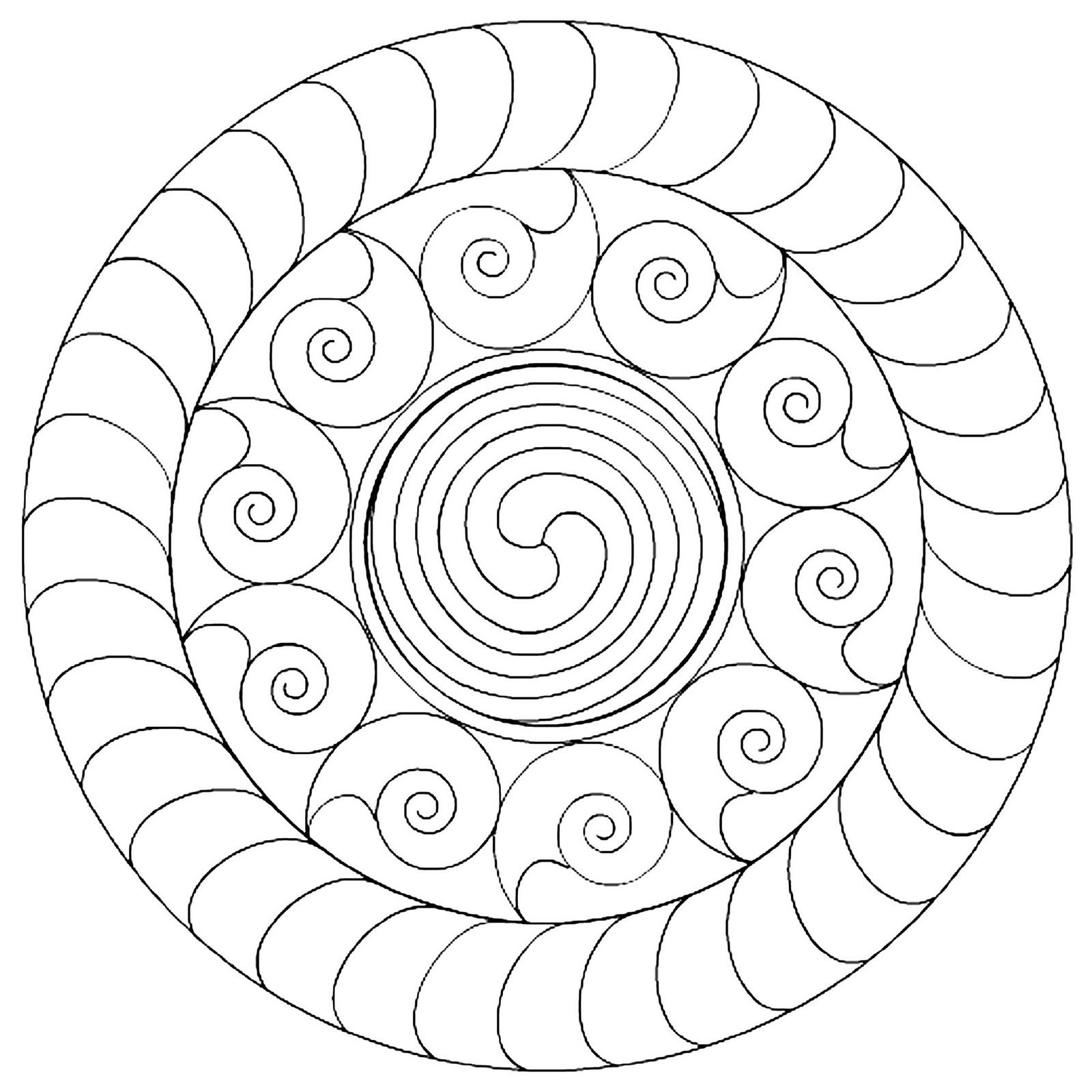 8 Images of Blank Printable Mandalas