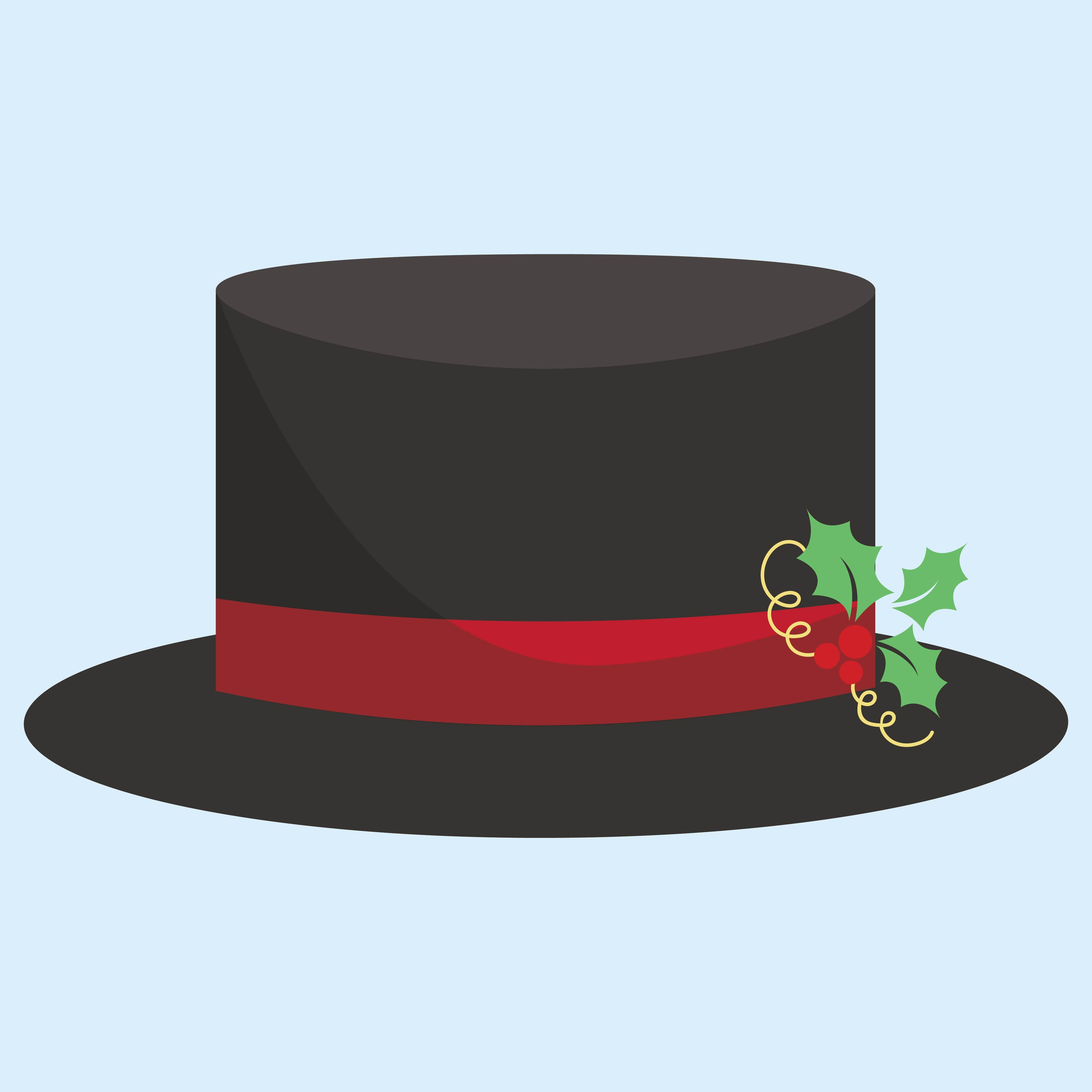 Best Images of Printable Top Hat Snowman - Snowman Top Hat ...