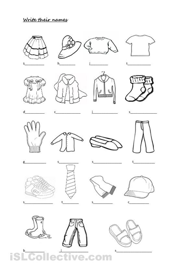 Free Clothing Worksheets In Spanish - free clothing worksheets in ...