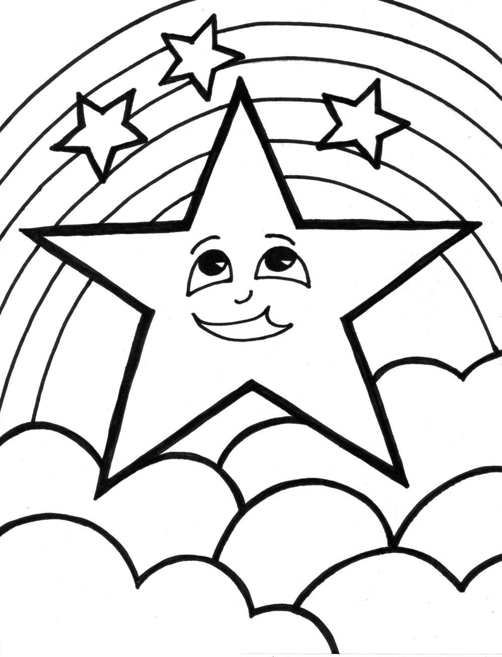 5 Images of Free Printable Star Coloring Pages