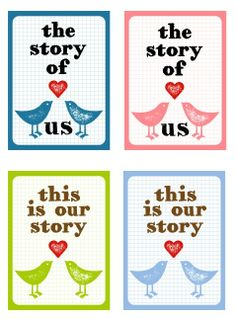 Story of Us Printables