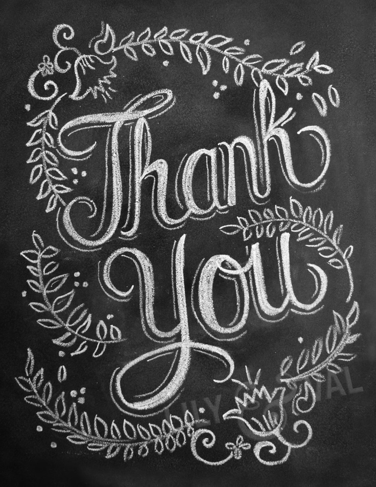 9 Images of Chalkboard Thank You Printables