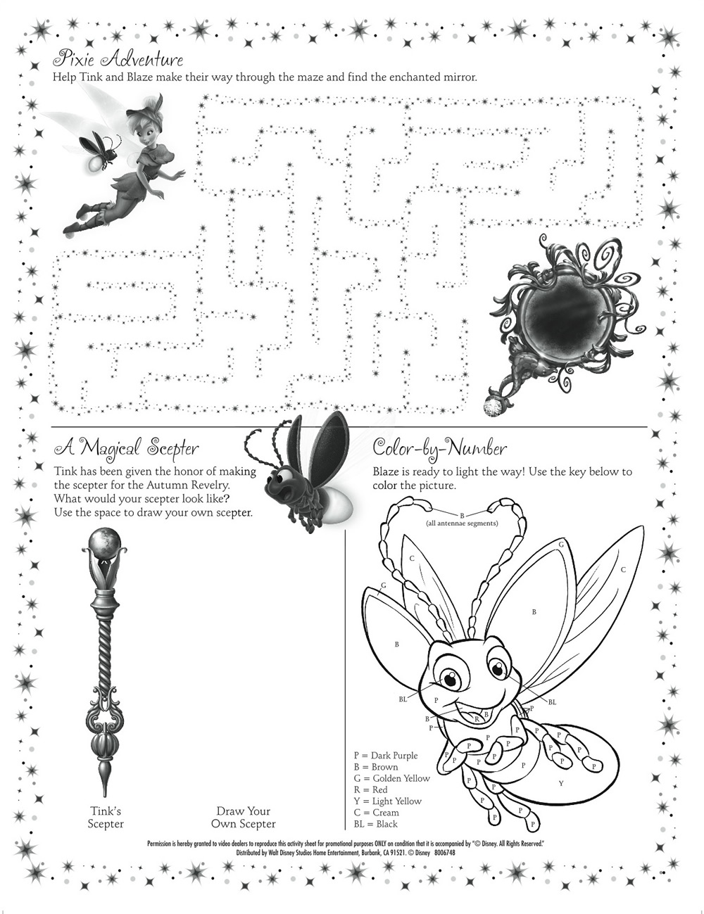 Tinkerbell Activity Pages