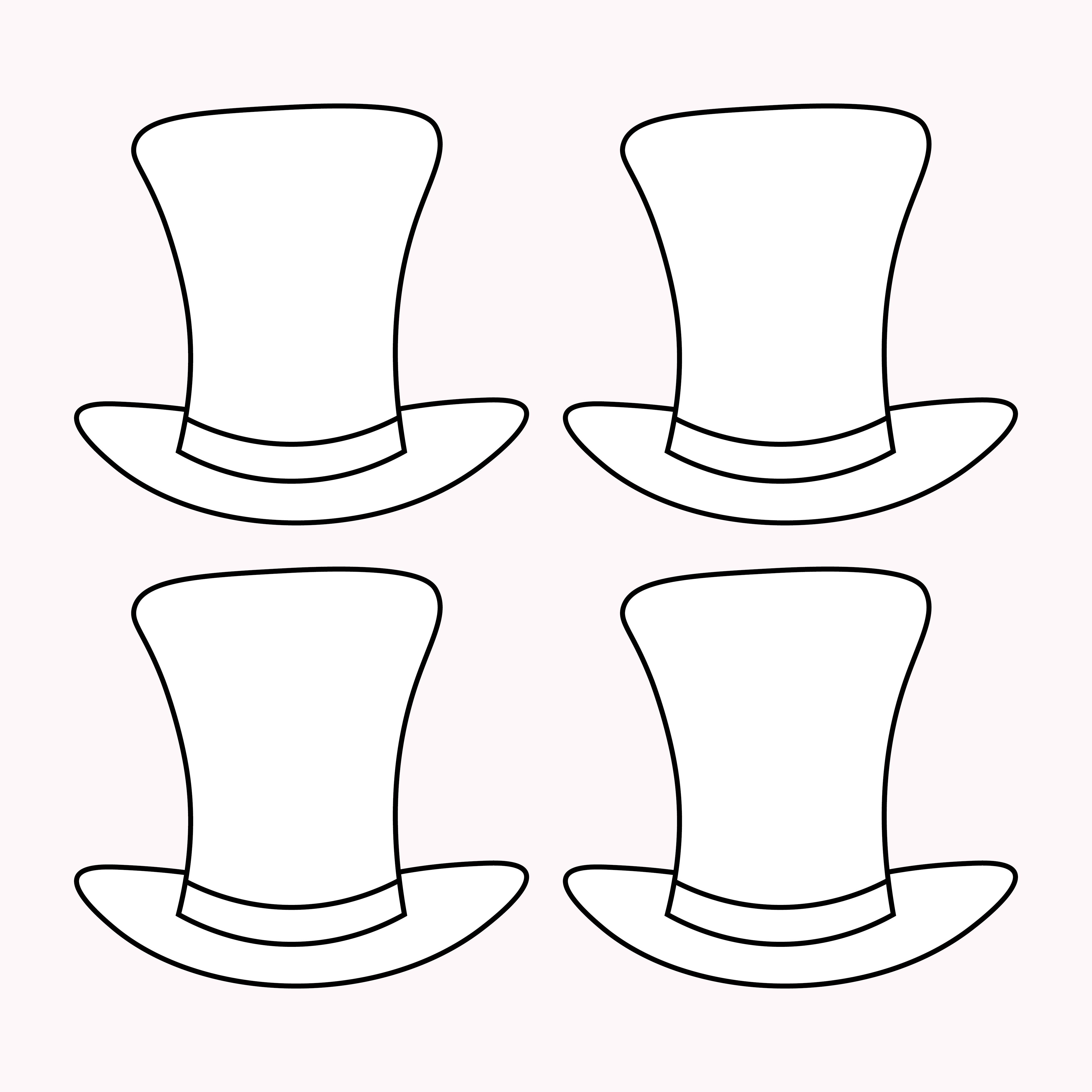 Top Hat Template Printable Free