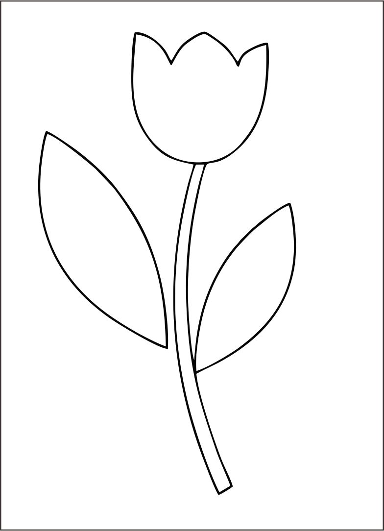 5 best images of free printable tulip stencil