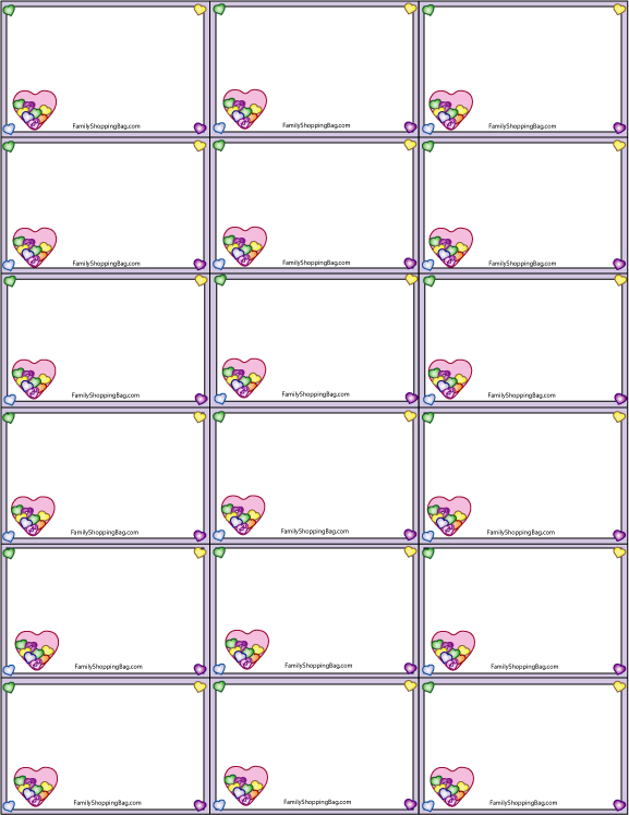 9 best images of blank printable valentine tags