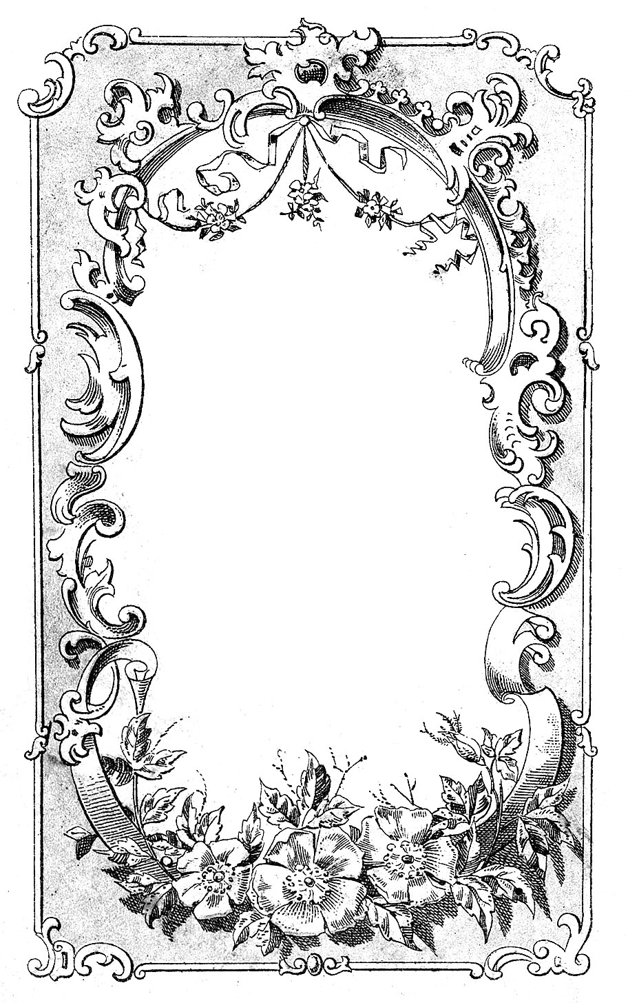Vintage Ornate Frame Graphic