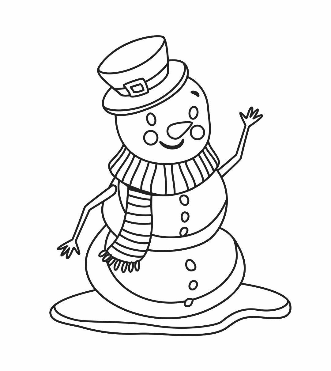 Winter Printable Snowman Coloring Pages