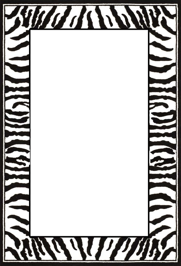 9 Images of Zebra Print Border Template Printables