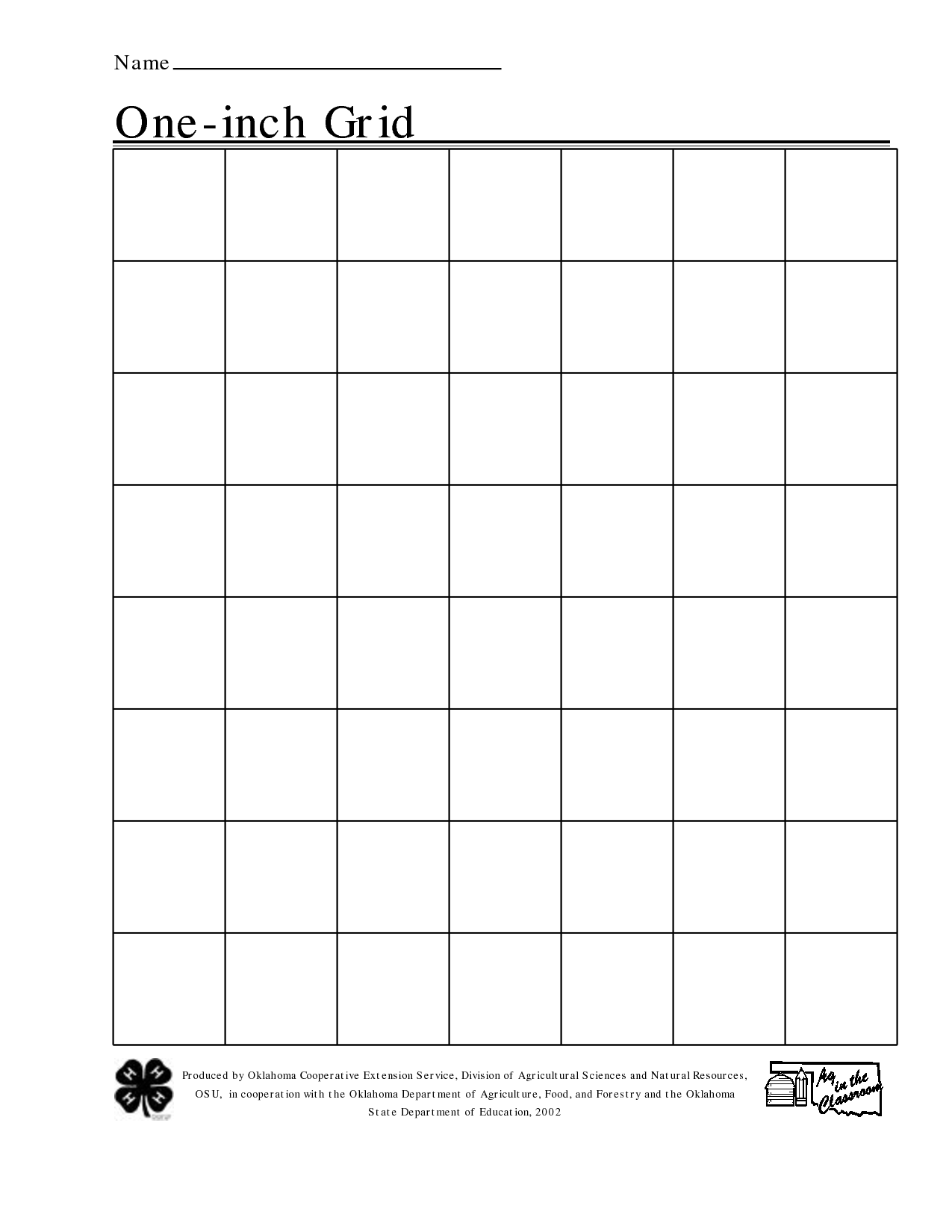 6 Images of One Inch Graph Paper Printable