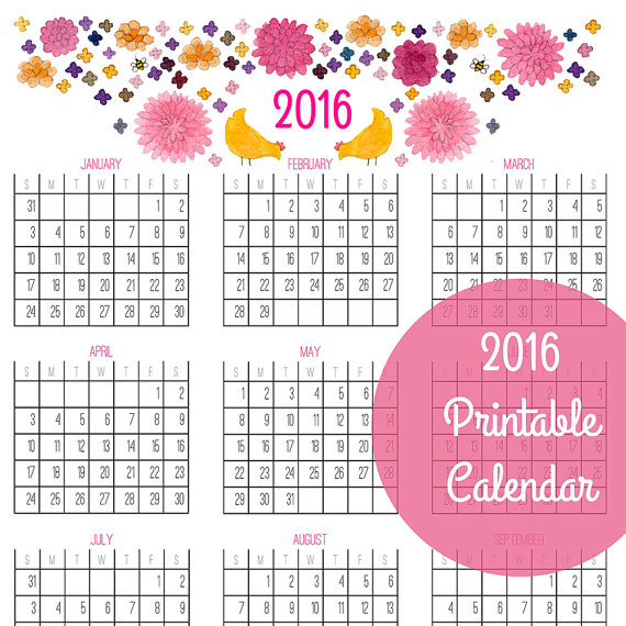 Year At Glance Calendar : Best images of calendar printable at a glance
