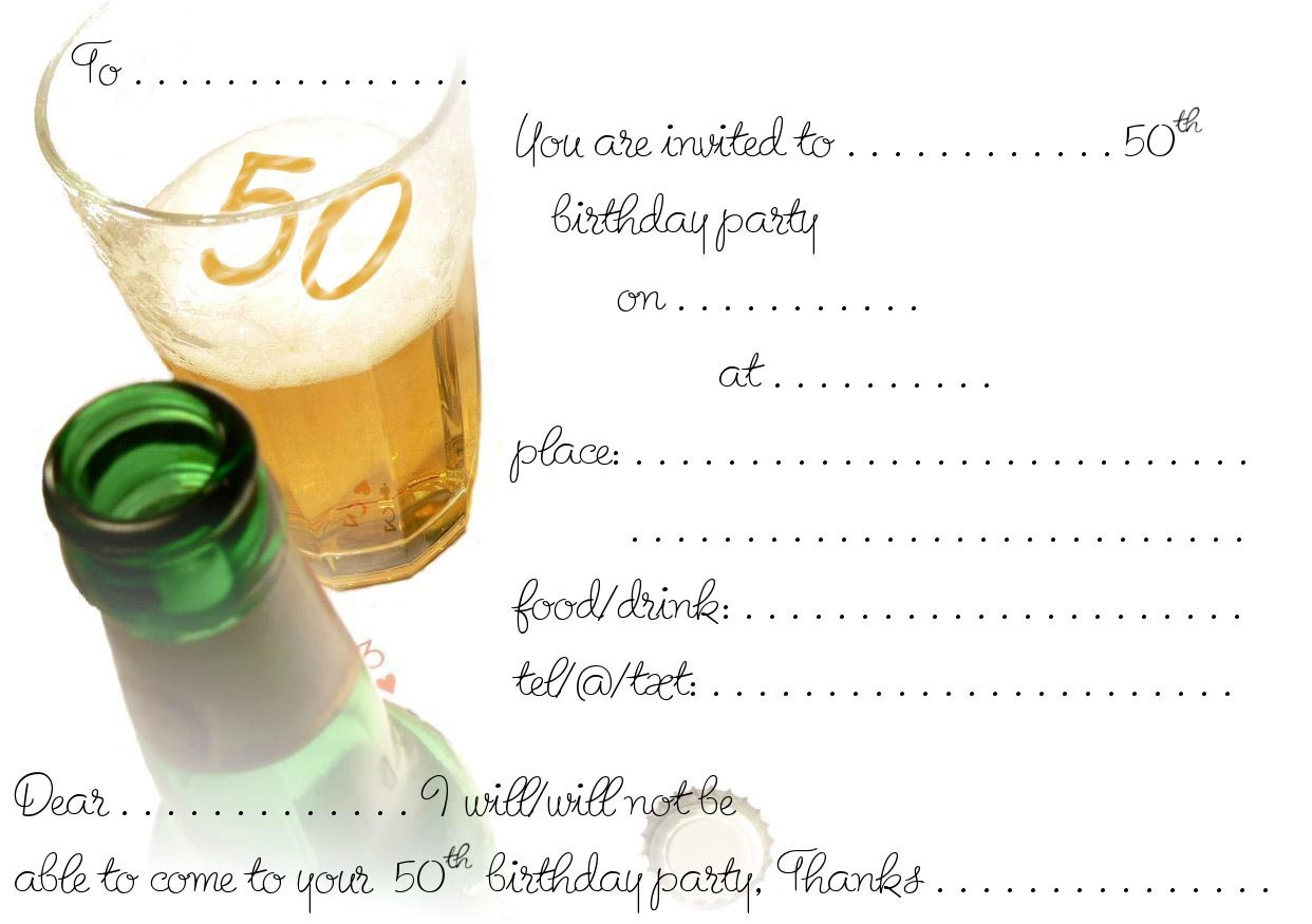 4 Images of 50th Birthday Invitations Printable