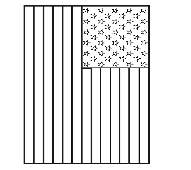 5 Images of American Flag Printable