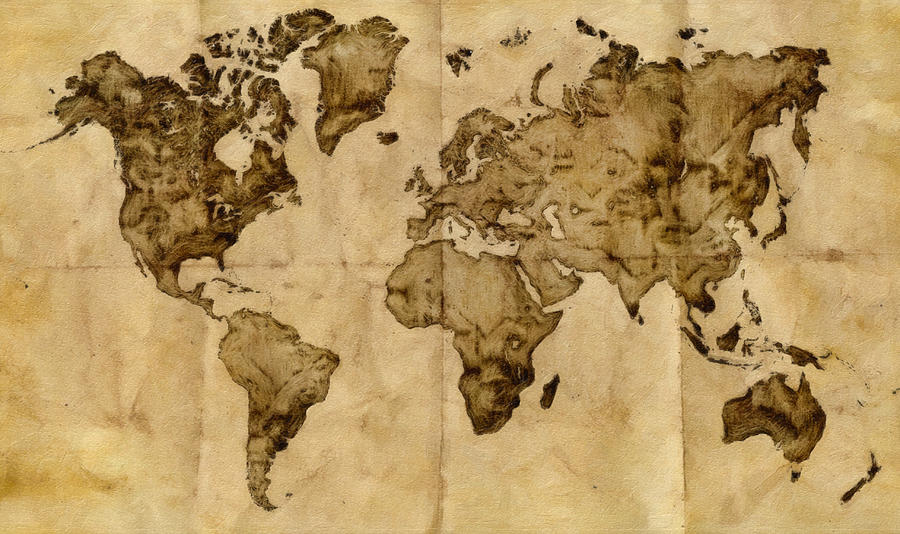 9 Best Images Of Vintage Looking World Map Printable