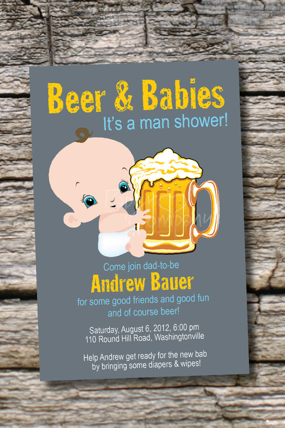 6 Images of Diaper Party Invitations Printable