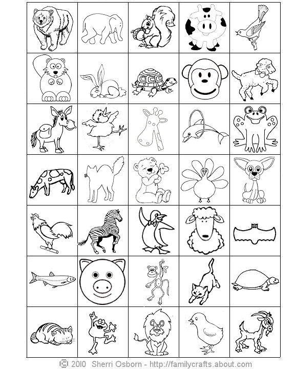 Obsessed image within animal bingo printable