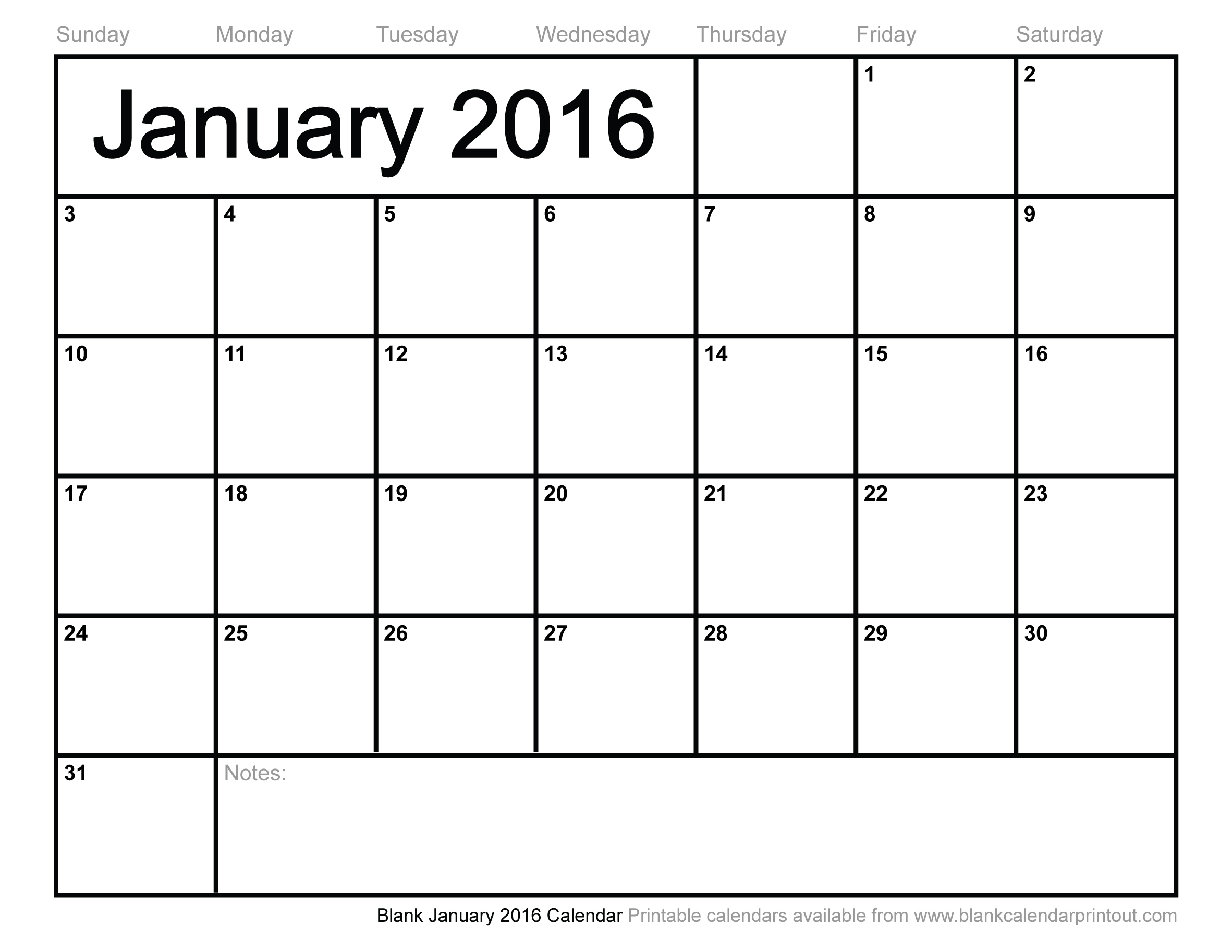 6 Images of 2016 Calendar Printable Full Page Blank