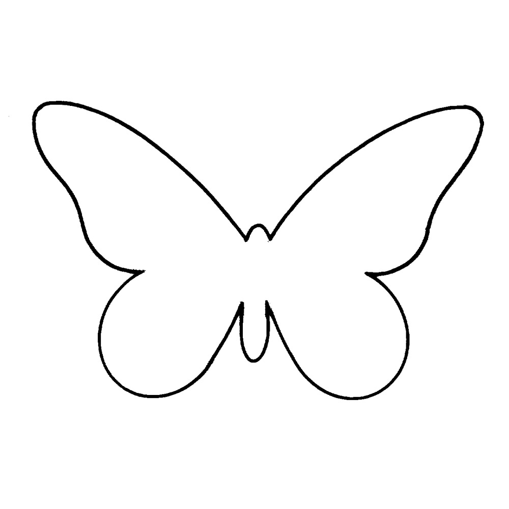 8 best images of 3d butterfly cutouts printable 3d for Butterfly paper cut out template