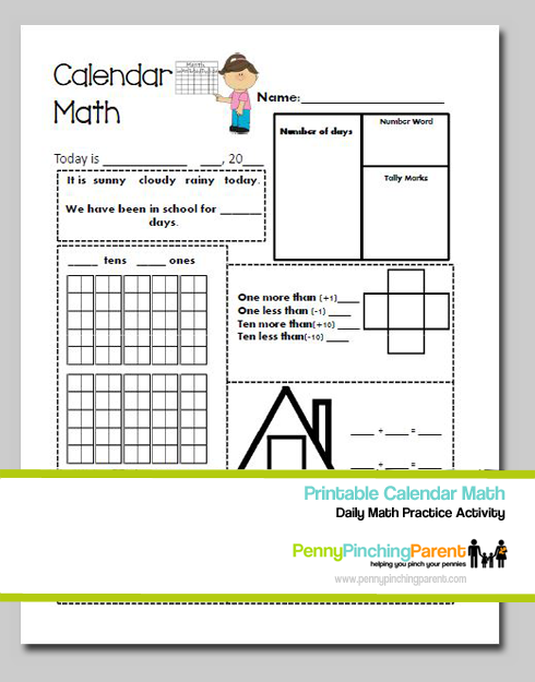 Calendar Activities For First Grade : St grade calendar worksheets for printable