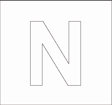 block letter n 7 best images of printable block letter stencils n block 122