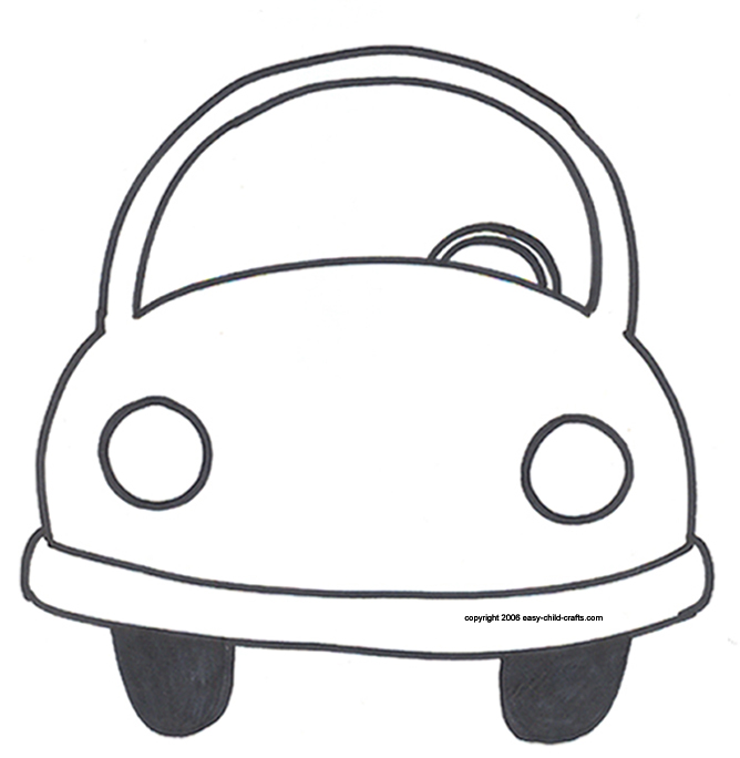6 Images of Car Template Printable For Kids