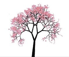 6 Images of Printable Cherry Blossom Pattern