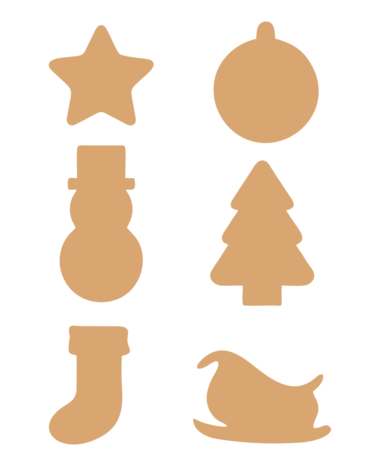 6 Images of Free Printable Christmas Ornaments Cutouts