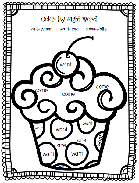 Number Names Worksheets fun sight word worksheets : Color By Sight Word Worksheets For Kindergarten | Coloring Page