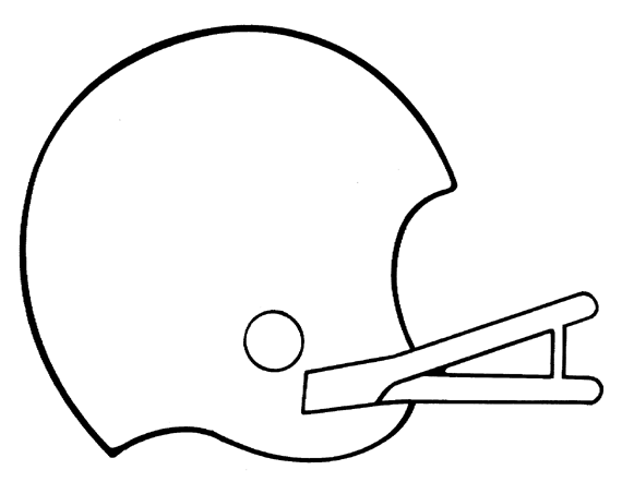 7 Images of Football Helmet Template Printable