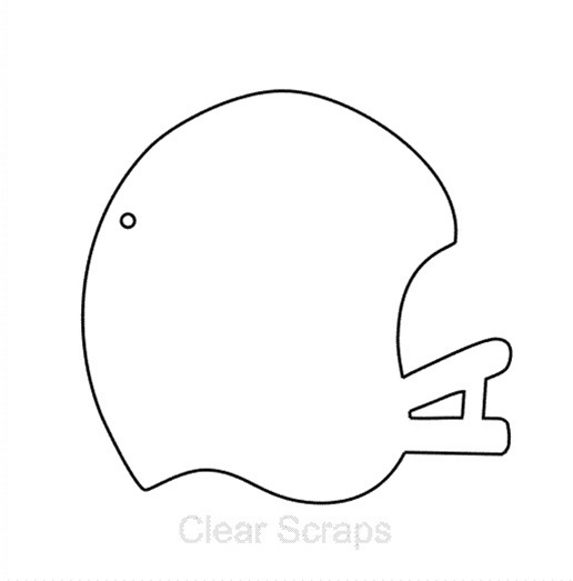 7 best images of football helmet template printable for Football cutout template