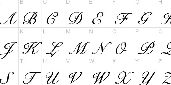 Best images of new calligraphy fonts alphabet printable
