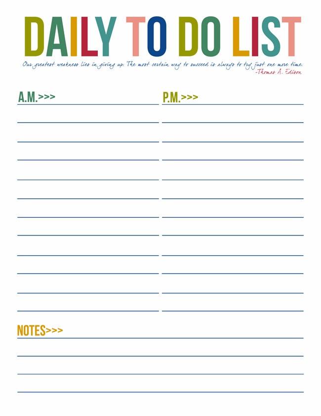 Sample Daily Checklist Templates