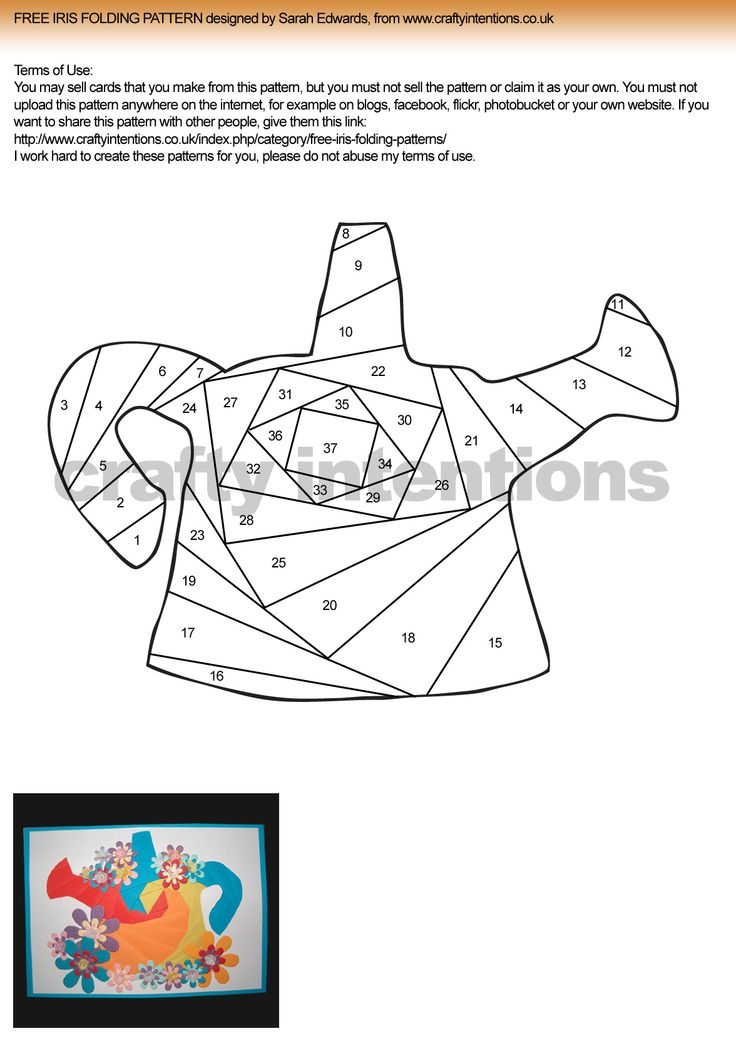 4 Images of Free Letter Printables Iris Folding Patterns