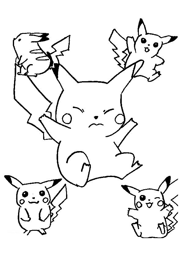 Picachu Thanksgiving Coloring Pages