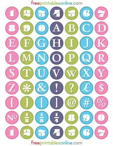 5 Images of Alphabet Free Printable Planner Stickers
