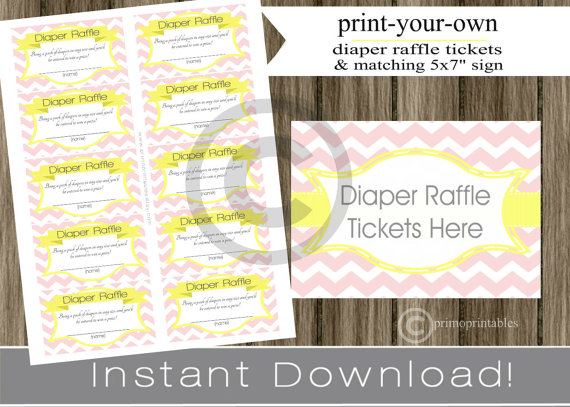 7 Images of Free Printable Diaper Raffle Sign