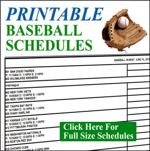 7 best images of free printable baseball tournament for Baseball schedule template free
