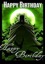 6 Images of Batman Birthday Free Printable Cards
