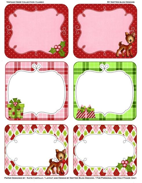 4 Images of Cute Printable Christmas Tags